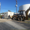 public works installs fm equipment storage shed
