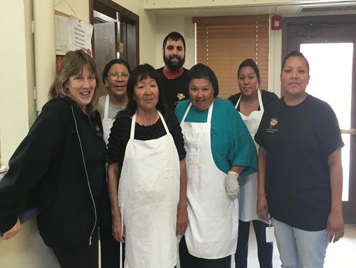 The Peach crew at the Hualapai Tribe Elderly Center 04/2016.